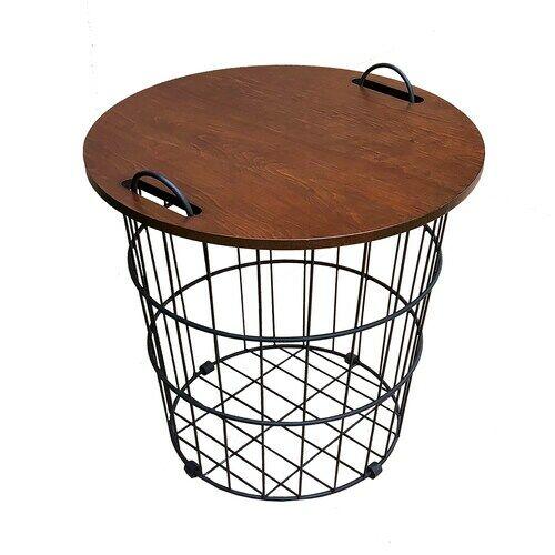 basket end table
