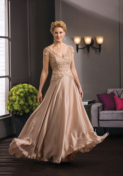 Jade Couture K188051 Gold Mother Of The Bride Dress