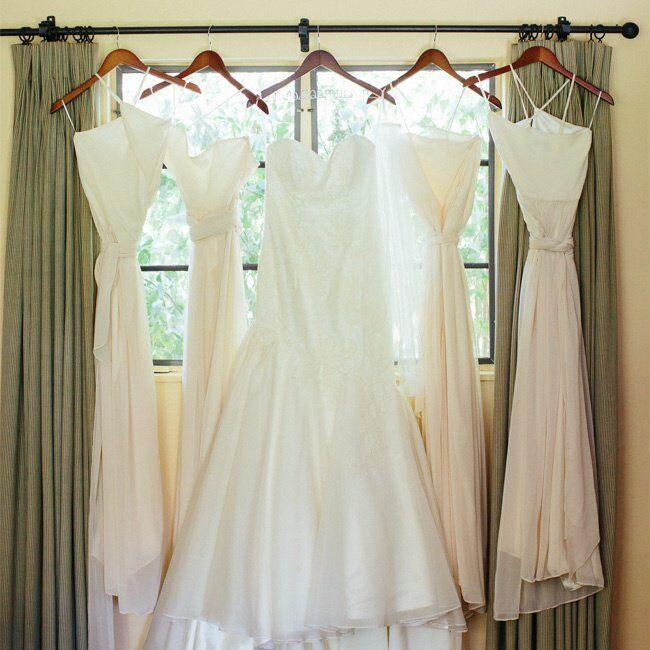 Bride and Bridesmaid Attire