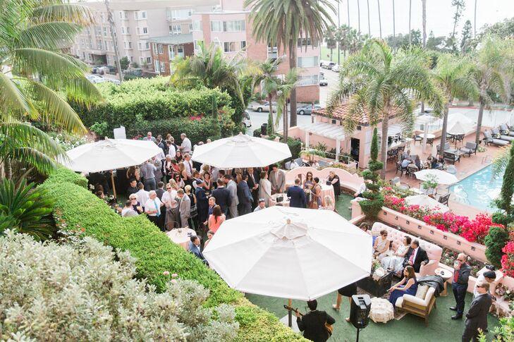 Courtyard at the La Valencia Hotel Wedding in La Jolla, California