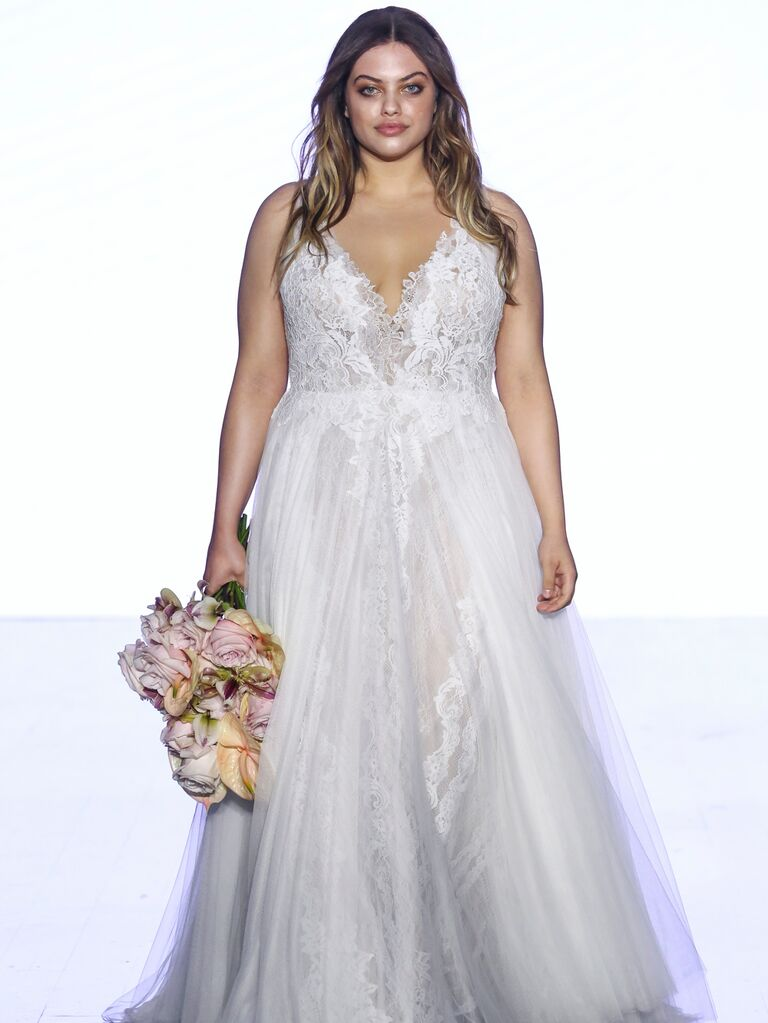 Watters Fall 2019 Bridal Collection lace A-line wedding dress