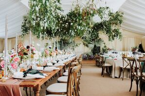Draped Reception Space with Romantic, Vintage Décor