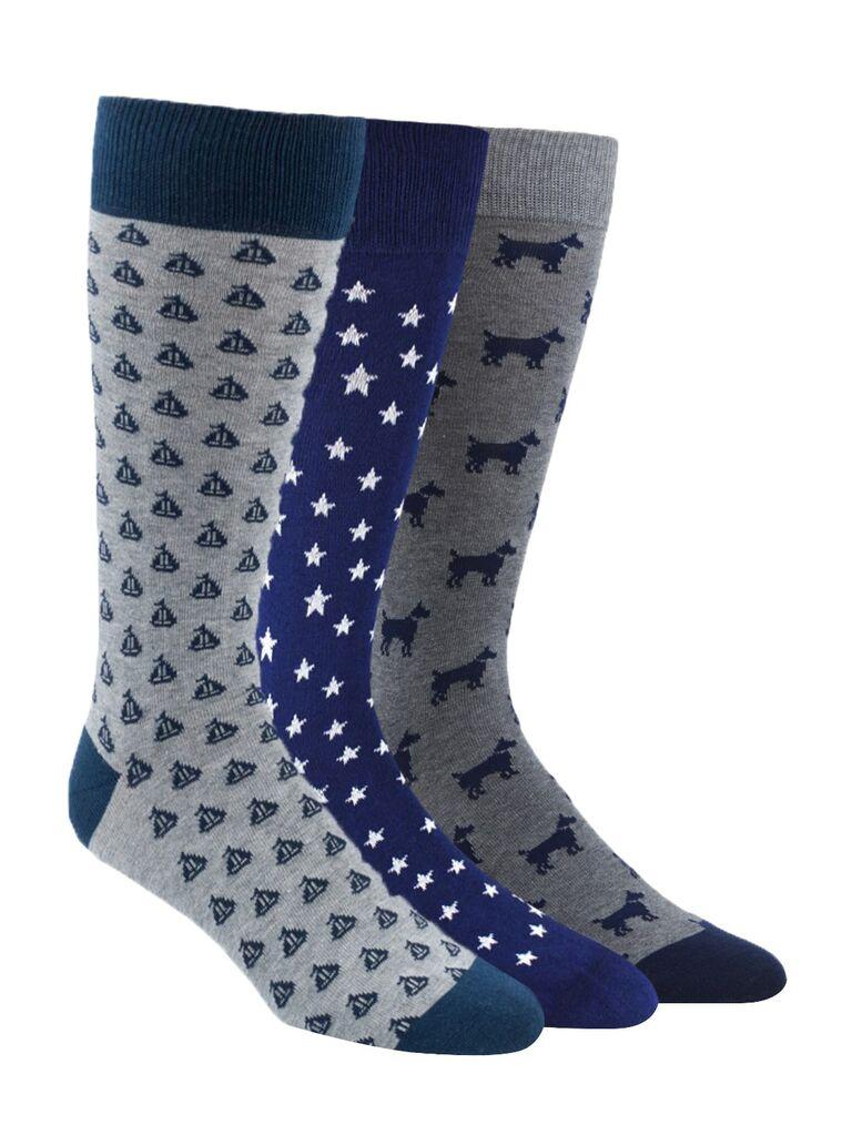 Fun patterned groomsmen socks