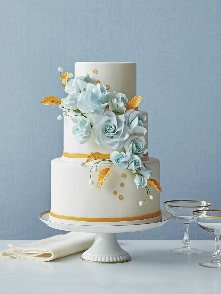 modern 3 tier wedding cake