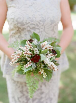 Green and Burgundy Bouquet