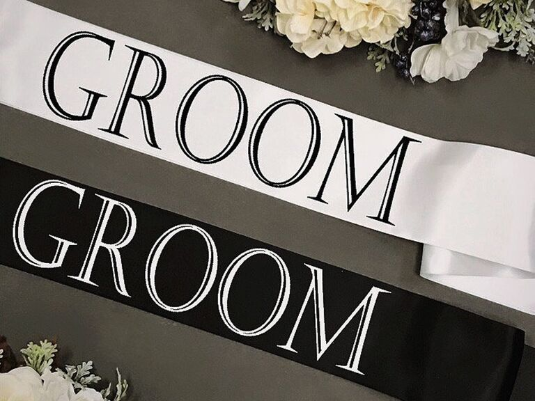 Joint bach party groom sashes