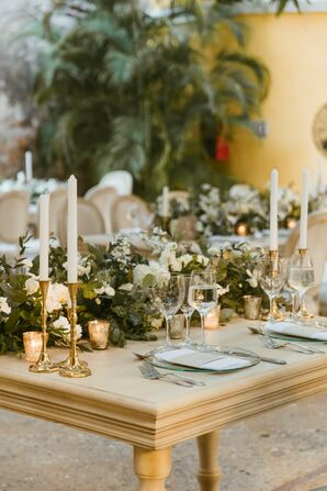 Rustic Place Setting at Reception