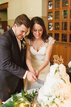 Katie and Scott Cutting the Cake
