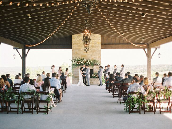 Wedding Ceremony at Dove Ridge Vineyard in Weatherford, Texas