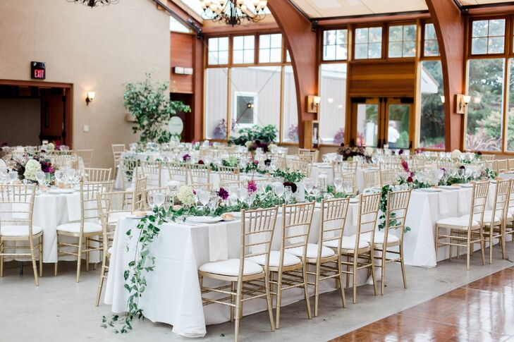 Natural Vine-Covered Reception Tables