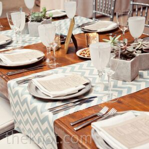 Gray Chevron Reception Decor