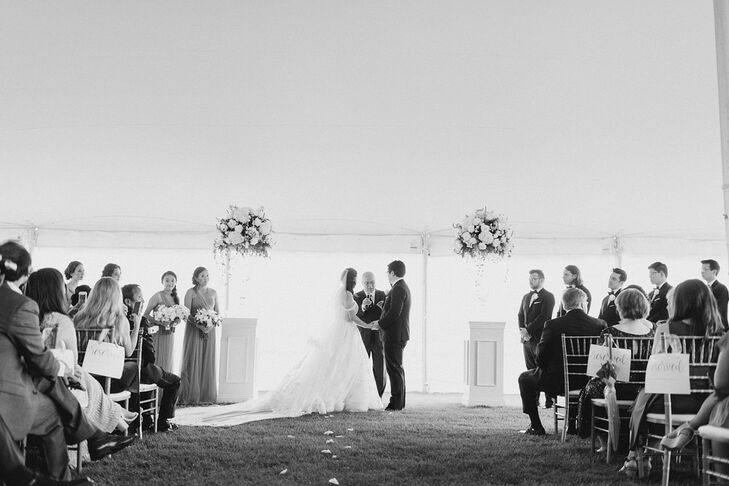 Traditional Tented Ceremony at Arranmore Polo Club in Oswego, Illinois