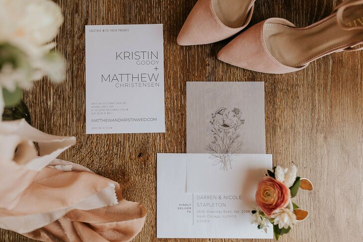 Romantic, Simple Invitations with Typography