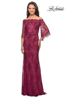 La Femme Evening 25317 Brown Mother Of The Bride Dress