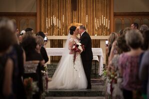 First Kiss at Academy of Sacred Heart Chapel
