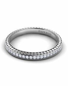 Danhov Tubetto Diamond Band Platinum Wedding Ring