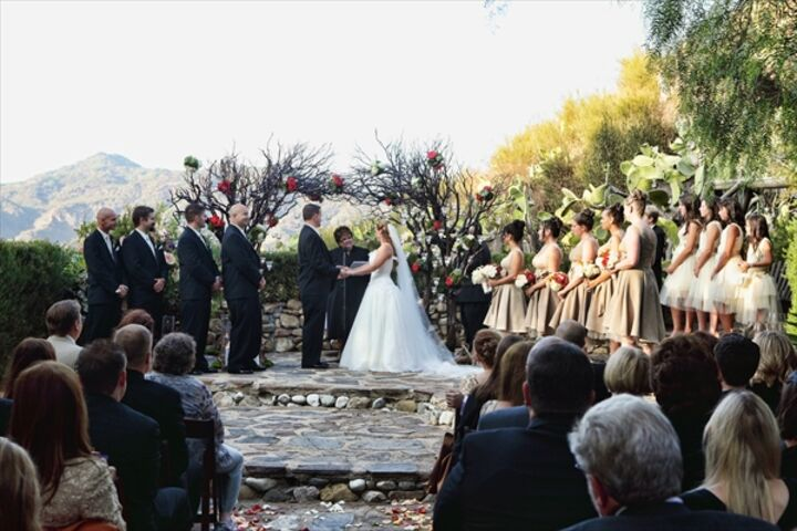 Wedding reception venues in malibu ca the knot saddle peak lodge junglespirit Images