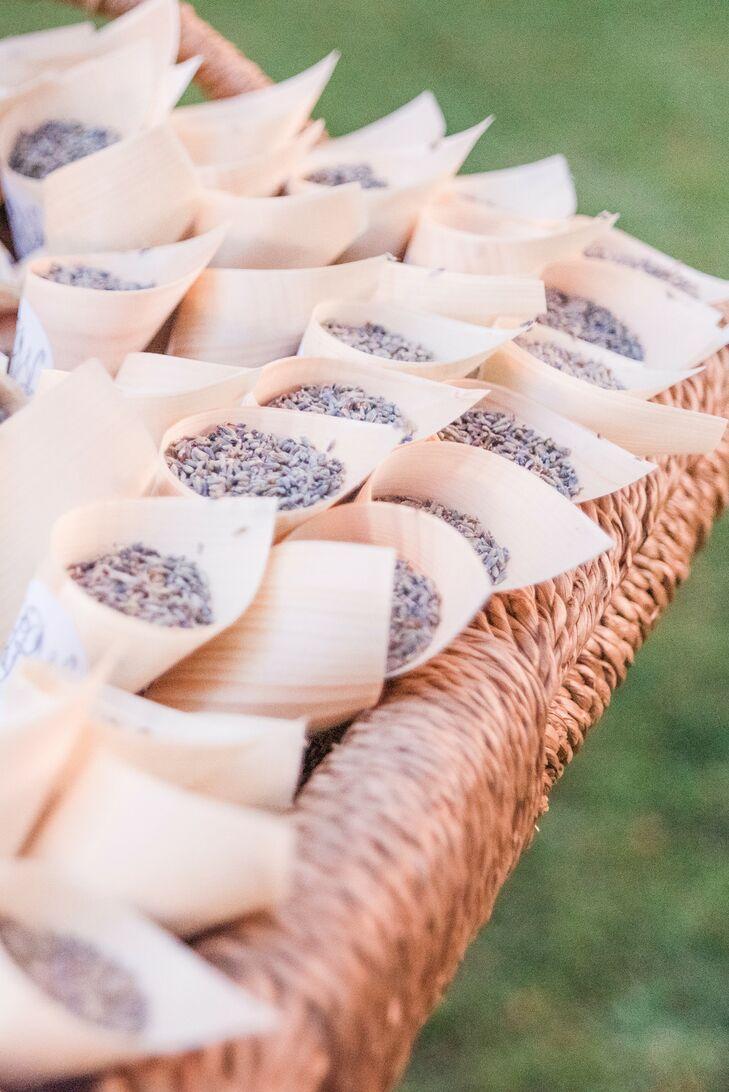 Lavender in Paper Toss Cones