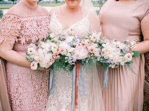 Pastel Bouquets at Wedding in Cincinnati, Ohio