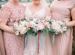 "For Nicole and Blake's Ohio wedding, it was important to the two of them ""to have our wedding outdoors, as I wanted it to feel like we were in the mid"