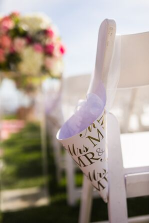 Mr. and Mrs. Confetti Cones