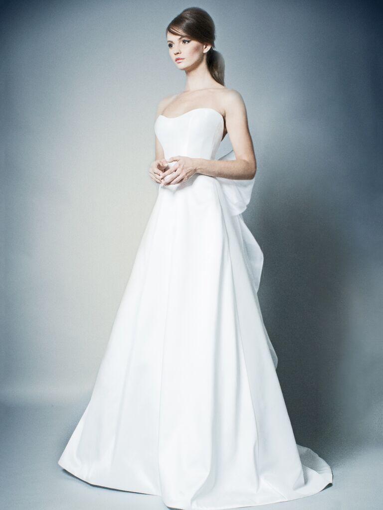 ROMONA New York Spring 2019 strapless A-line wedding dress