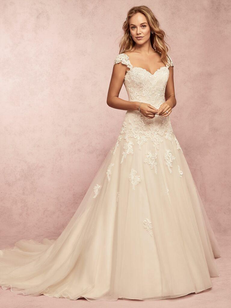 Rebecca Ingram Spring 2019 lace a line wedding dress