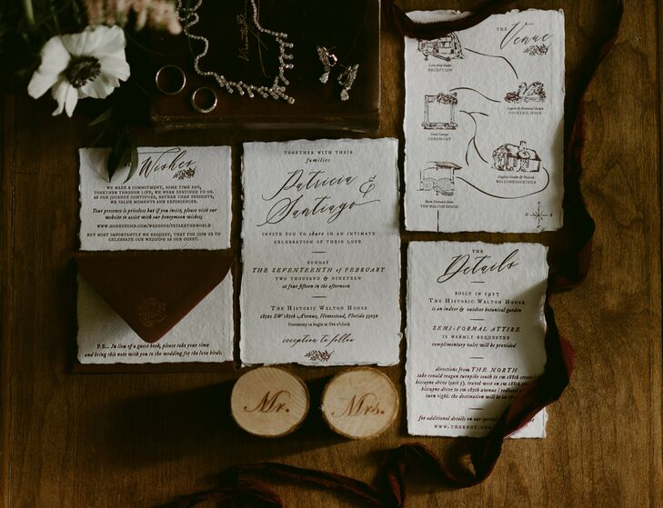 Formal and Classic Wedding Invitations with Calligraphy