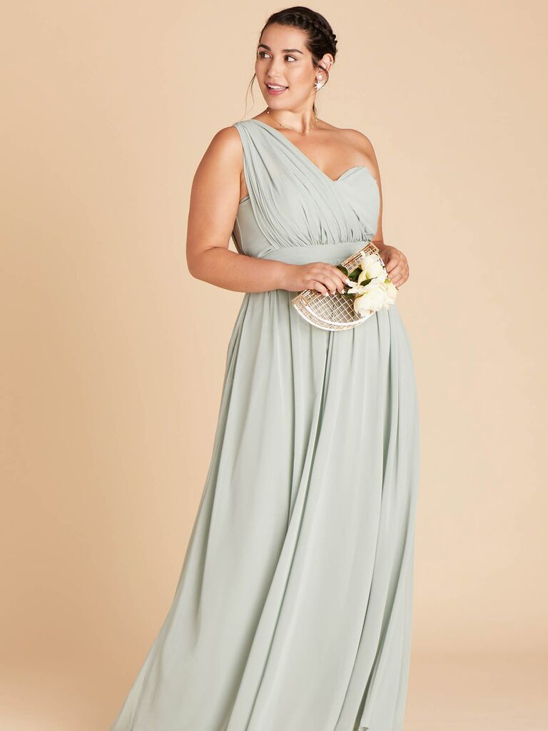 Green plus size bridesmaid dress under $100