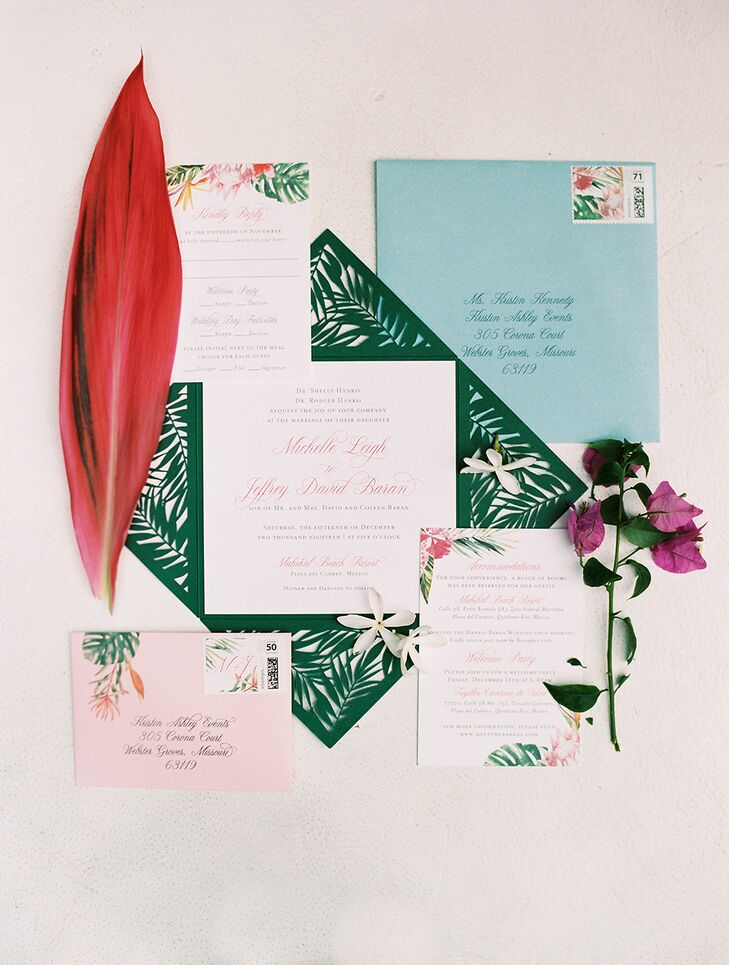 Modern Tropical Wedding Invitations