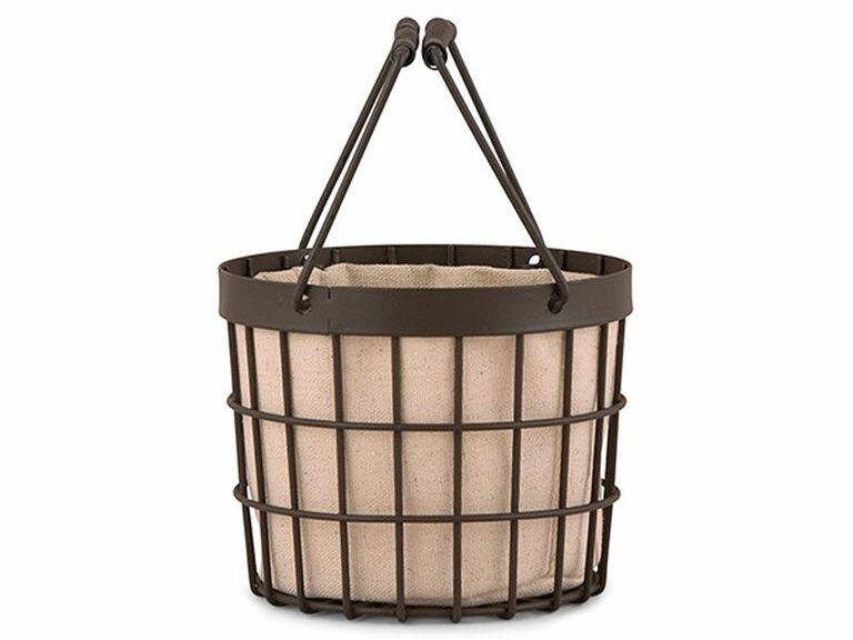 wire flower girl basket