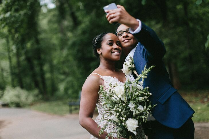 Couple Takes Selfie During Elopement Pictures