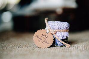 Rustic Jam Jar Wedding Favor