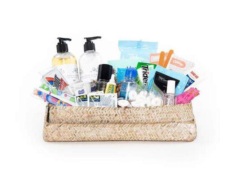Premade wedding bathroom basket for women