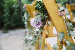Folding Chairs With Flower Garland