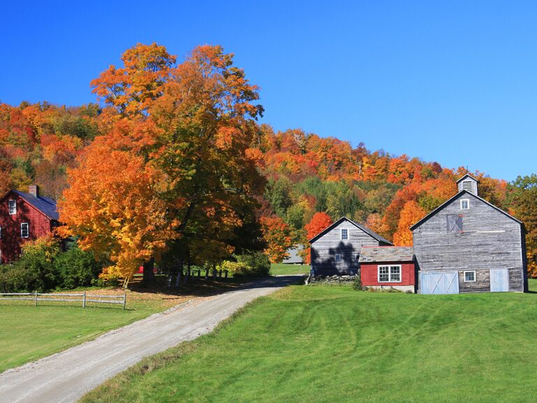 autumn in Burlington, Vermont