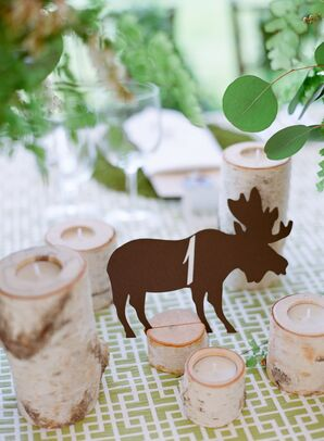 Animal Table Numbers With Antler Place Cards