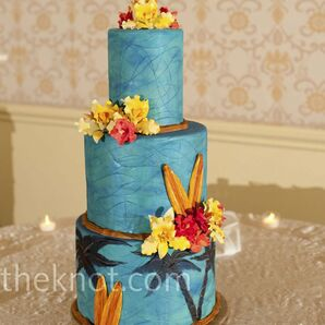 Blue Surfboard Cake