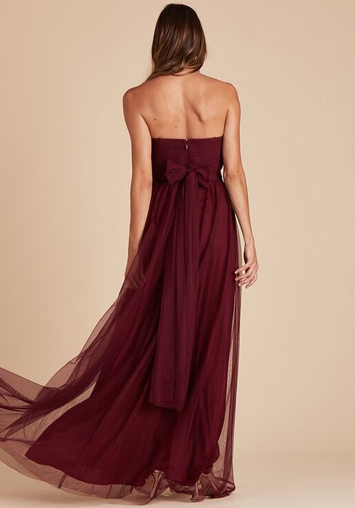 Birdy Grey Christina Convertible Dress in Cabernet Strapless Bridesmaid Dress
