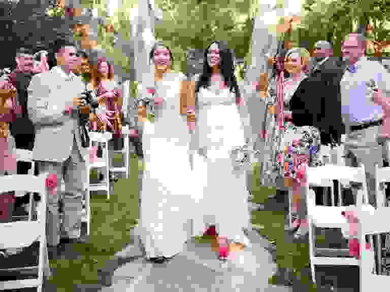 Same-sex wedding processional