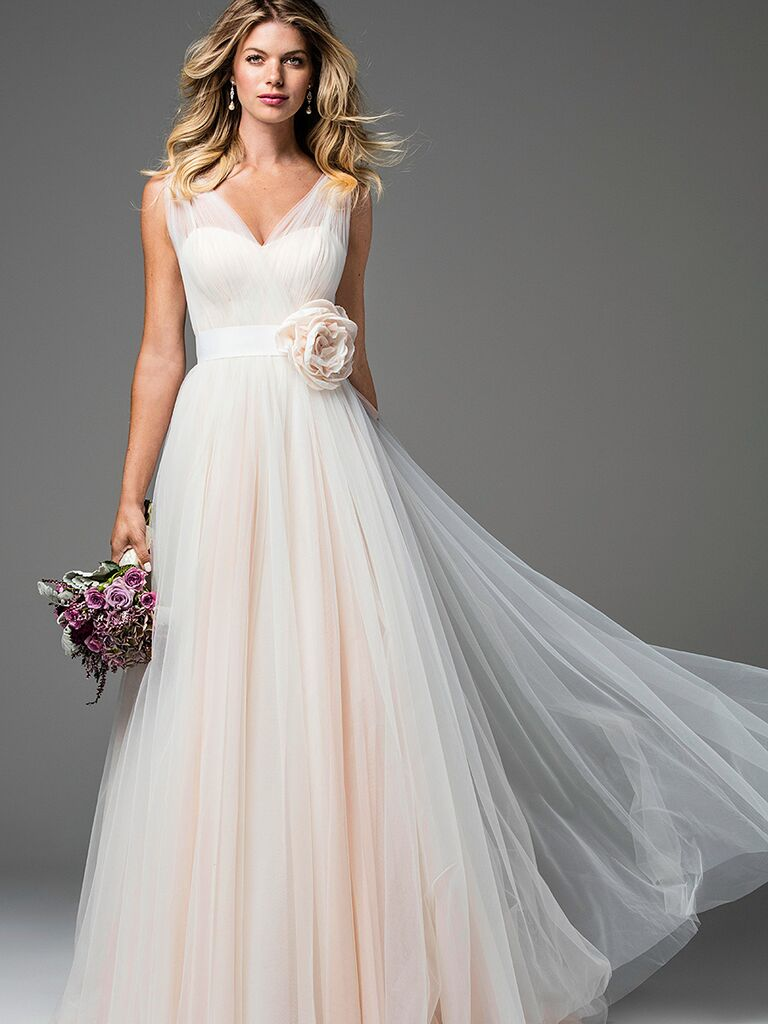 c5d981aaed10 The Prettiest Blush and Light Pink Wedding Gowns