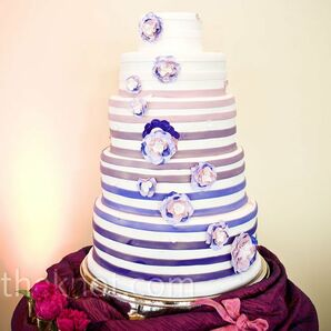 Striped Circle Cake