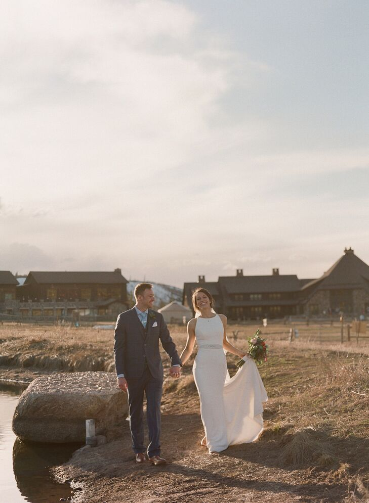 The couple got married at the 6,000-acre Devil's Thumb Ranch Resort & Spa, surrounded by the natural beauty of Tabernash, Colorado.