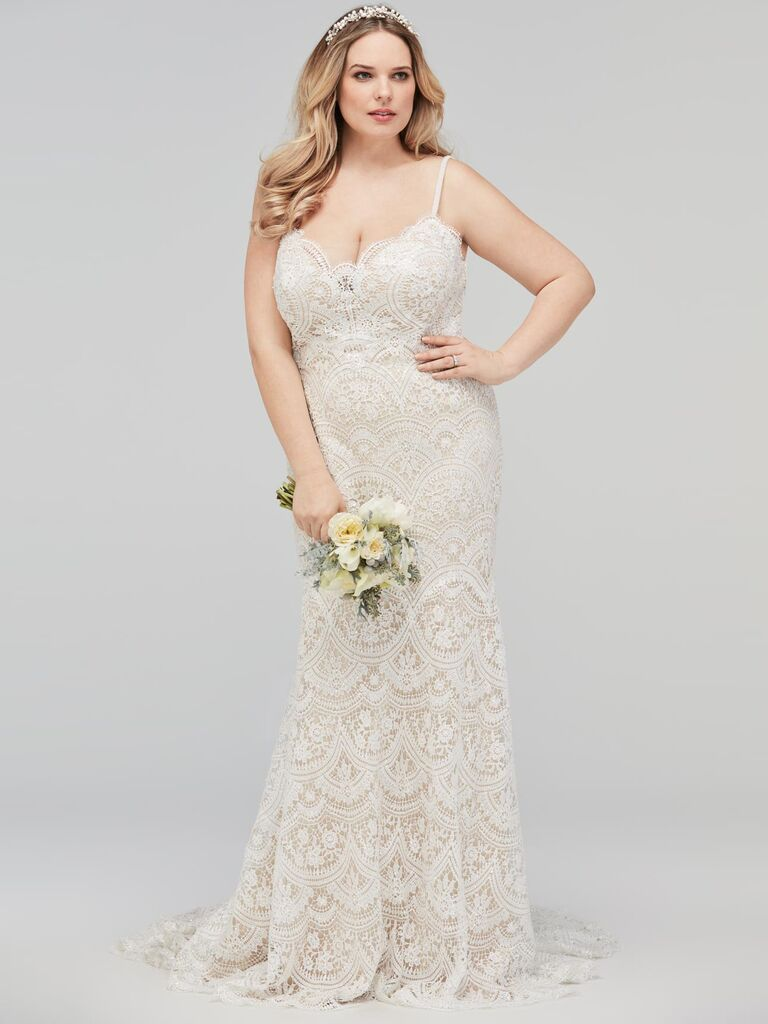 20 Gorgeous Plus Size Wedding Dress You Ll Love,Rainbow Dip Dye Wedding Dress