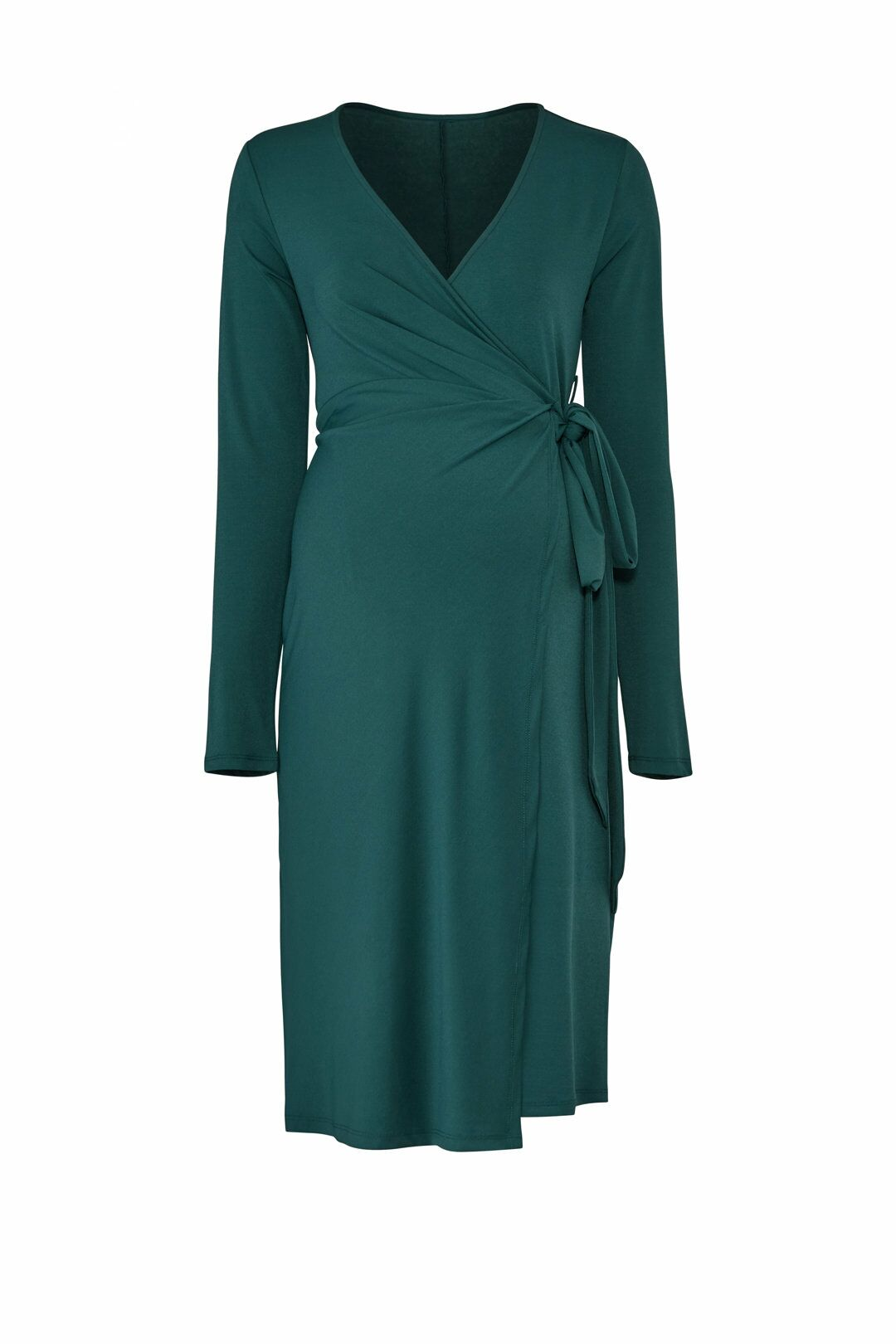 Emerald Wrap Maternity Dress