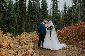 Rustic Couple at Emerald Lake Lodge in British Columbia, Canada