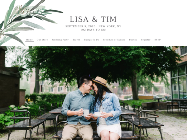 Lush Greenery Wedding Website Template, The Knot
