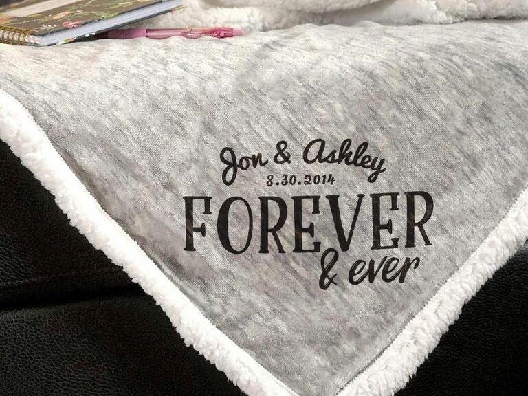 customized sherpa blanket