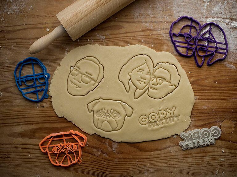 Custom couple portrait cookie cutters 25th anniversary gift