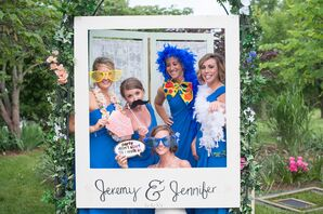 Playful Reception Photo Booth